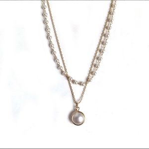 Faux Layered Pearl Necklace
